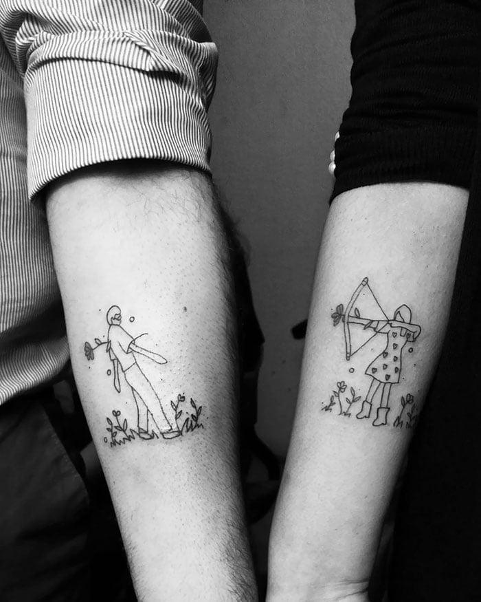 Tatuagens De Namorados E Amigos30 Me Apaixonei